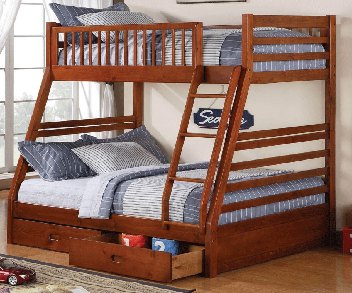 Wooden Twin Bunk Beds For Kids