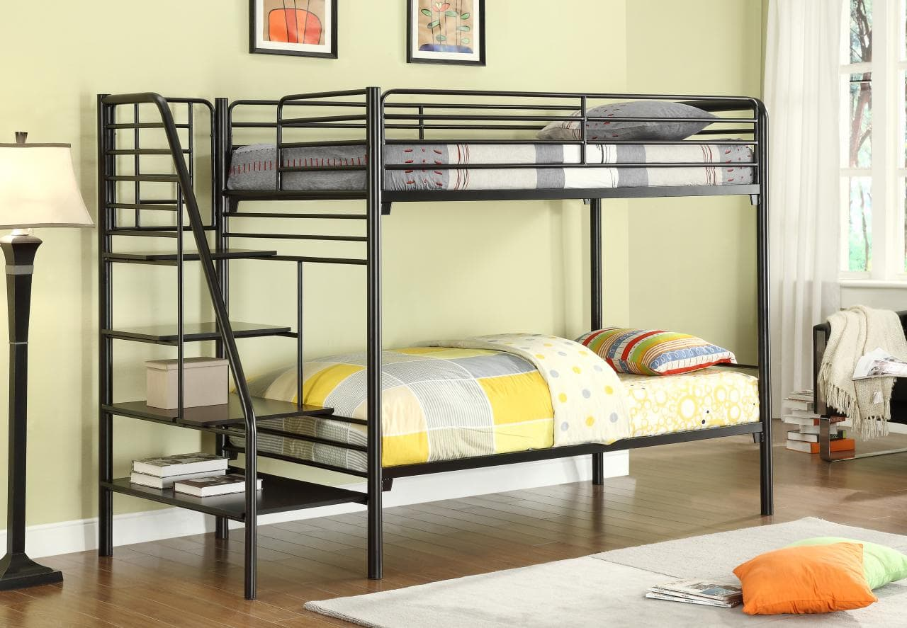 Metal Bunk Beds With Stairs