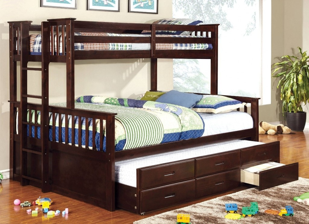 Beautiful Full Bed With Trundle And Storage