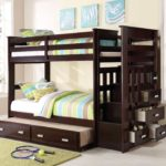 Dark Bunk Beds With Trundle And Storage