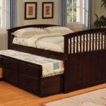 Dark Trundle Twin Bed