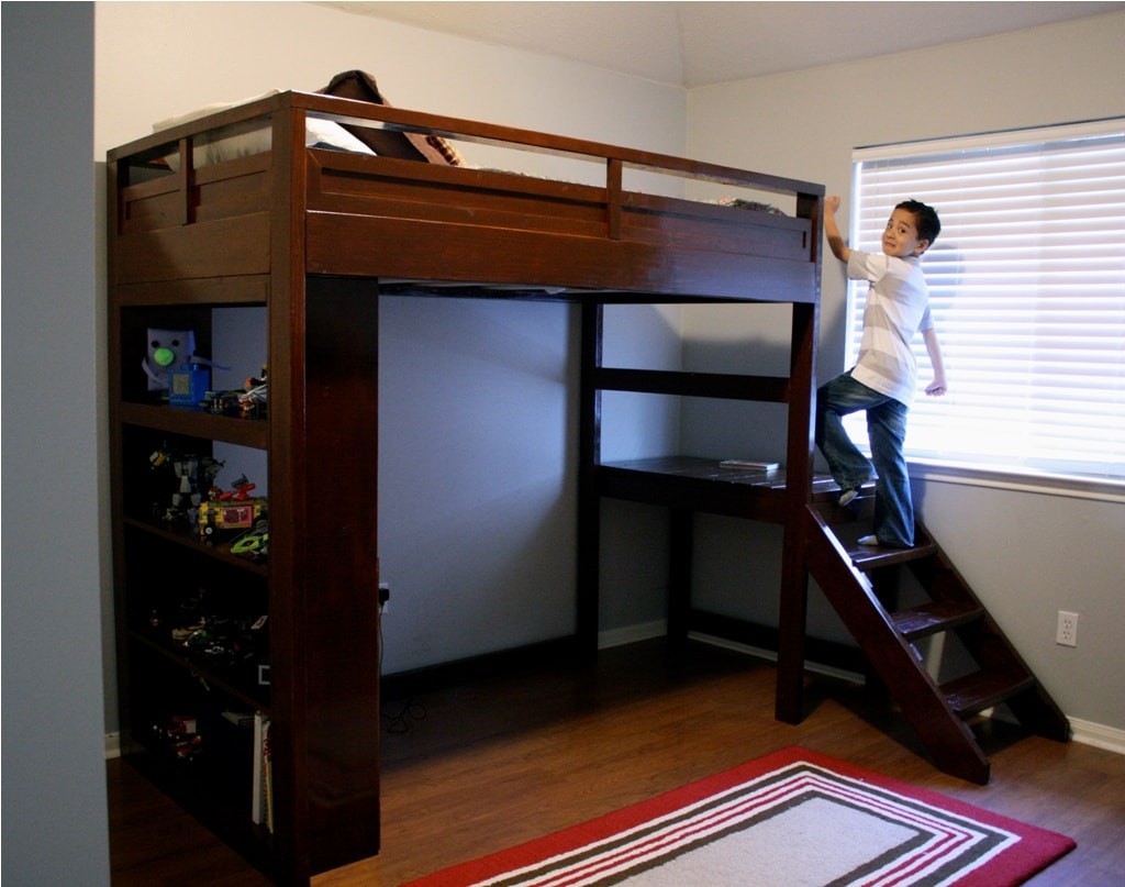 Full Size Loft Bed With Stairs