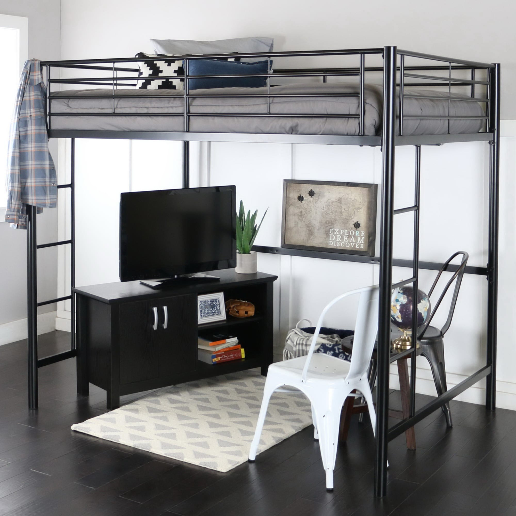 Metal Full Size Loft Bed