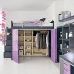 Beautiful Loft Bed Storage For Girl