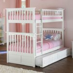 Exquisite White Girls Twin Bunk Beds