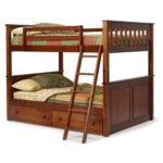 Wooden Brown Full Size Bunk Beds