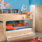 Wooden Bunk Beds In Children's Room