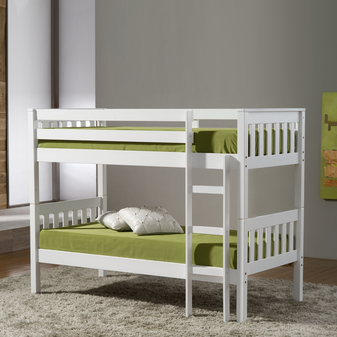 Beautiful White Small Bunk Beds