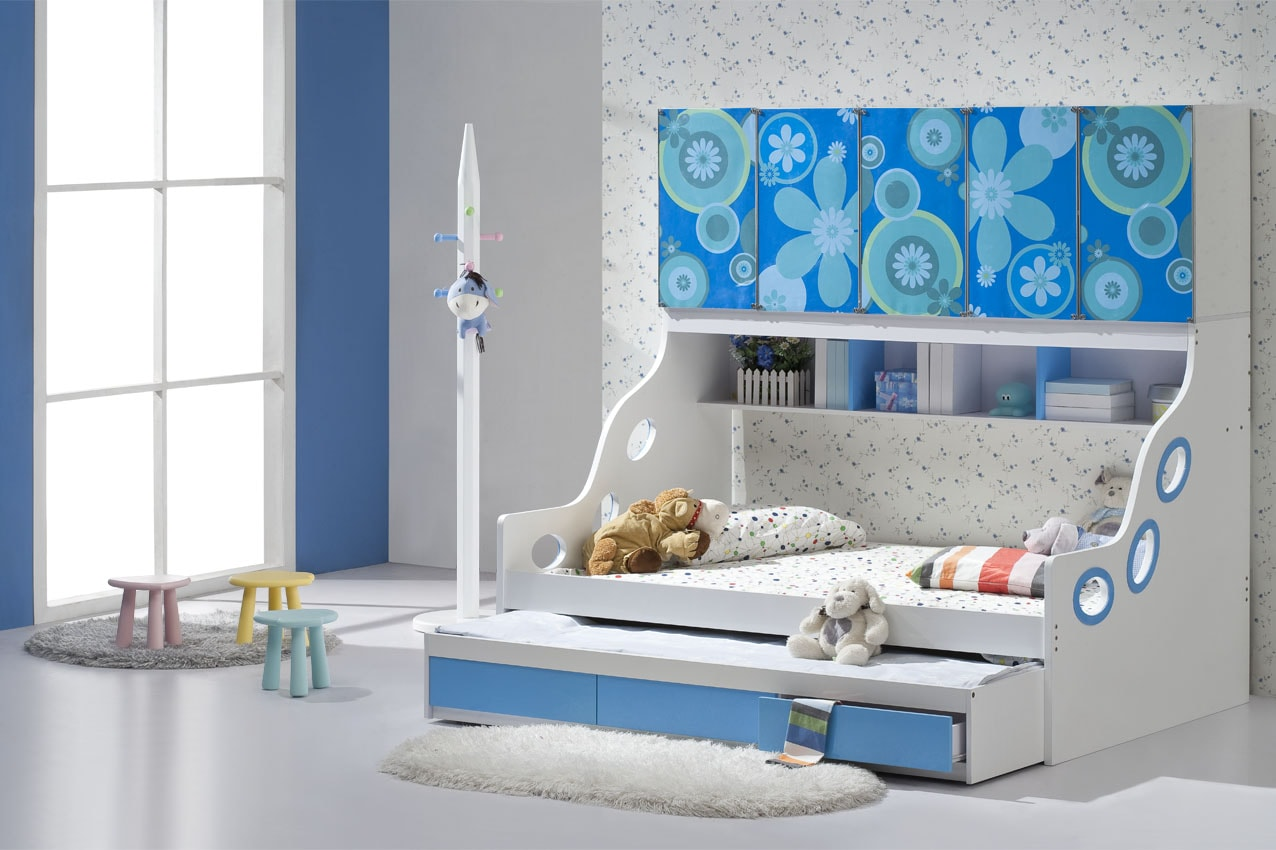 Colorful Trundle Beds For Girls