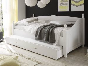 Comfortable White Trundle Bed
