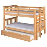 Compact Wooden Low Bunk Beds