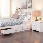 Attractive White Queen Bed Frame